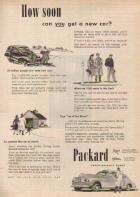 1945 PACKARD WWII ADVERT-B&W