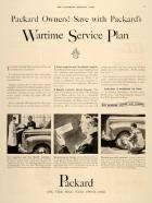 1942 PACKARD WWII ADVERT-B&W