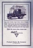 1911 PACKARD TRUCK ADVERT-B&W