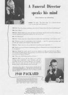 1940 PACKARD ADVER-B&W