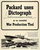 1943 PACKARD-DICTOGRAPH WWII ADVERT-B&W
