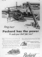 1948 PACKARD MARINE ADVERT-B&W
