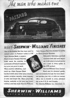 1936 PACKARD-SHERWIN WILLIAMS ADVERT-B&W