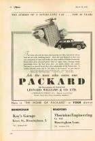 1939 PACKARD-ENGLAND ADVERT LH-B&W