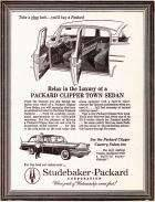 1957 PACKARD ADVERT-B&W
