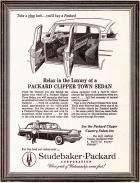 1957 PACKARD ADVERT-B&W