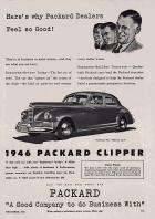 1946 PACKARD ADVERT-B&W