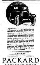 1922 PACKARD ADVERT-B&W