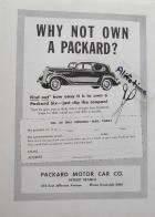 1937 PACKARD ADVERT-B&W