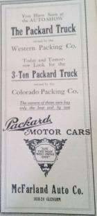 1911 PACKARD TRUCK DEALER AD-...