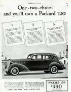 1936 PACKARD 120 ADVERT-B&W