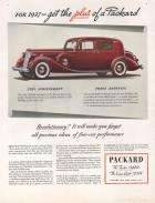 1937 Twelve and Super 8 Plus of a Packard Advertisement - Fortune Magazine 11/36