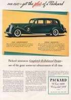 1937 Twelve and Super 8 Plus of a Packard Advertisement