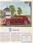 1936 Twelve Limousine for 7 Passengers - Saturday Evening Post 5/36