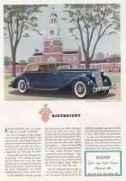 1936 Twelve Convertible Victoria for 5 Passengers - Advertisement