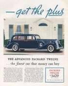 1937 Twelve Get The Plus of a Packard Advertisement