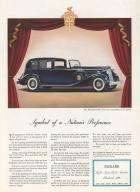 1936 Twelve Town Car with Body by LeBaron Advertisement