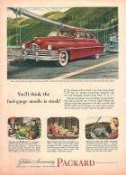 1949 PACKARD EIGHT CLUB SEDAN ADVERT