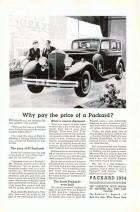 1934 PACKARD ADVERT B&W