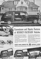 1948 PACKARD HENNEY HEARSE ADVERT-B&W