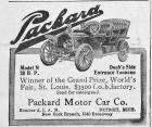 1905 PACKARD ADVERT-B&W