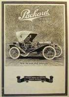 1908 PACKARD ADVERT-B&W