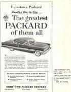 1956 PACKARD DEALER ADVERT SAMPLE-B&W