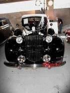 Packard 1939 Twelve Victoria 2dr cnvrt Blk front