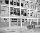 1940s PACKARD FACTORY AFTER AN EXPLOSION