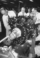 1941 PACKARD ROLLS-ROYCE ENGINES BEING PRODUCED-B&W
