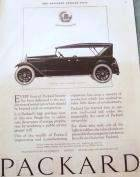 1922 PACKARD TOURING ADVERT-B&W