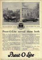 1926 PACKARD AND PREST-O-LITE ADVERT-B&W