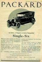 1922 PACKARD SIX ADVERT-B&W