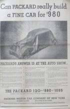 1935 PACKARD OF NYC ADVERT-B&W