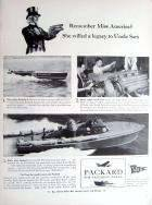 1942 PACKARD WWII ADVERT-B&W