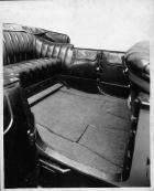 1917 Packard touring car, rear interior, top lowered