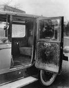 1923 Packard eight limousine built for Tsan-Tso-Lin, detail of interior door