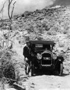 1923 Packard touring car in desert