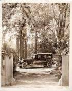 1924 Packard sedan at entrance to Newberry home in Grosse Pointe, Mich.