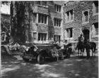 1927 Packard touring car and Charles Eastman at Princeton University