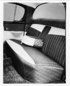 1957 Packard sedan, view of rear interior through rear