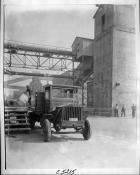 1919 Packard truck at factory loading dock