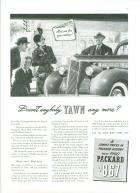 1940 PACKARD ADVERT-B&W
