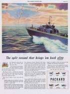 1944 PACKARD WWII PT BOAT ADVERT-COLOR